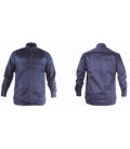 Camisa trabajo L Algodón/Fibra Antiestática Azul Welder ignifuga WL. TOTAL