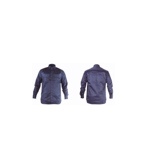 Camisa trabajo 3XL Algodón/Fibra Antiestática Azul Welder ignifuga WL. TOTAL