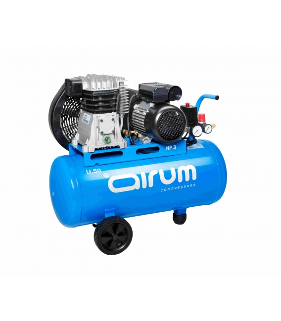 Compresor de aire AIRUM. Transmisión por correas