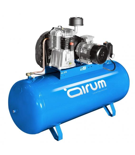 Compresor de aire 270 litros, transmisión por correas AIRUM