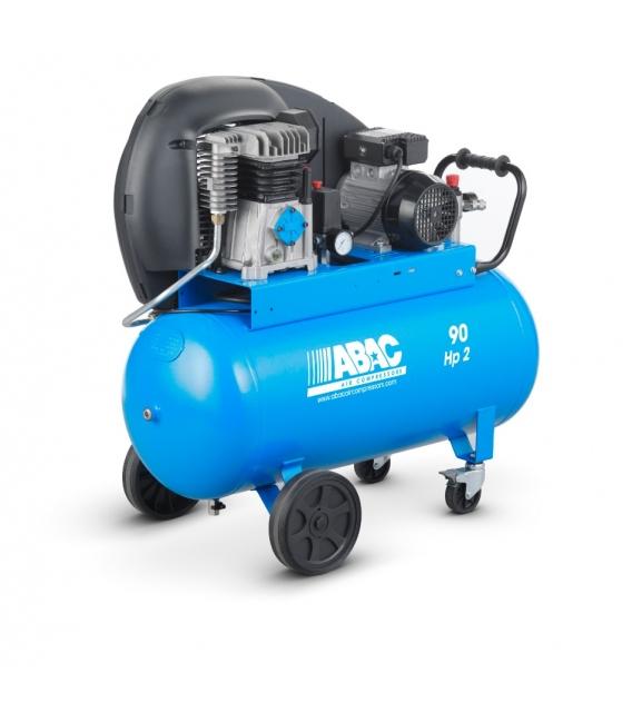 Compresor de aire 50 litros, transmisión por correas ABAC