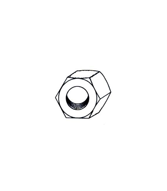 TUERCA HEXAG. 934 M08 ACERO 12 PZ