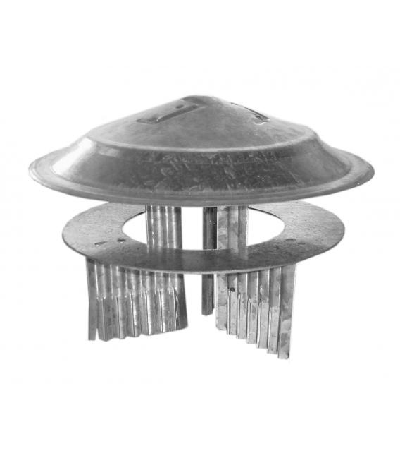 Sombrerete estufa galvanizado para tubo de 80mm a 150mm THECA