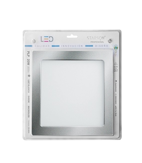 Downlight LED 20W empotrar plata 6400K 1800 Lumenes STARSON