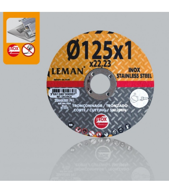 Disco corte inox 115x1mm Reflex LEMAN