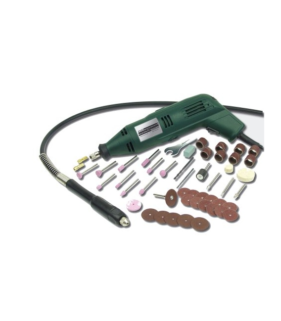 Multiherramienta 135w con eje flexible y accesorios MANNESMANN 92577