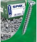 Tornillos galvanizados 04,5x080mm 200 Piezas SPAX