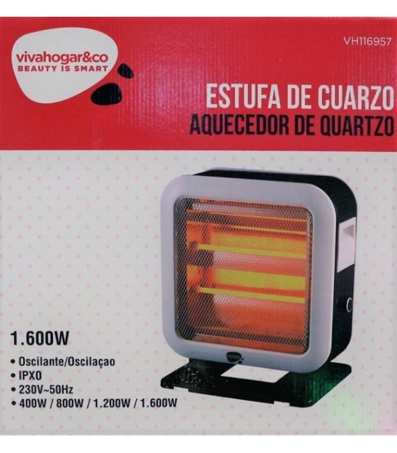 Estufa eléctrica horizontal doble cara VIVAHOGAR