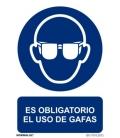 CARTEL SEÑAL 210X300MM OBLIGA USO GAFAS