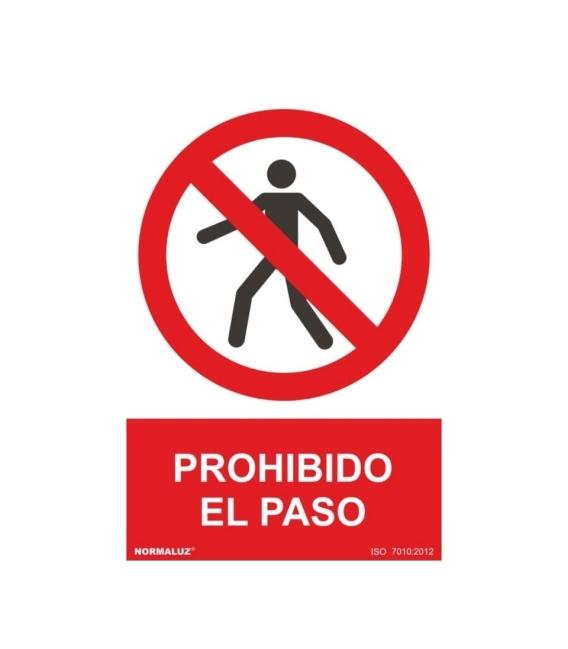 CARTEL 210X300MM PROHIBIDO EL PASO