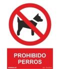 CARTEL 210X300MM PROHIBIDO PERROS