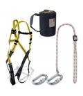 Steelpro Arnés Seguridad dorsal completo cuerda regulable. STEELPRO