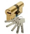 Cilindro Seguridad 30X30mm C6 Laton Leva Larga. LINCE