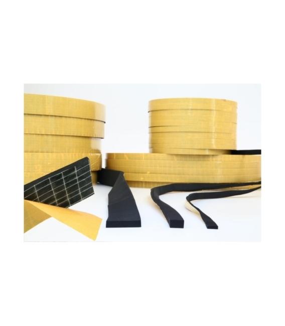 Perfil adhesivo 10x10mm esponja/neopreno 100 mt negro. TECNOGOMA