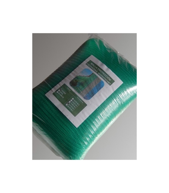 Malla Protección fachada 6x10mt  Verde. SEIMARK