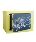 Caja fuerte sobreponer 170x230x170mm pistacho. BTV