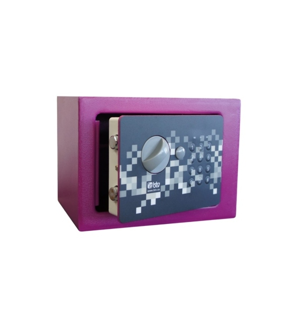 Caja fuerte sobreponer 170x230x170mm Violeta. BTV