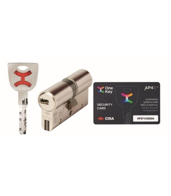 Cilindro seguridad 35x35mm niquel CISA AP4 S