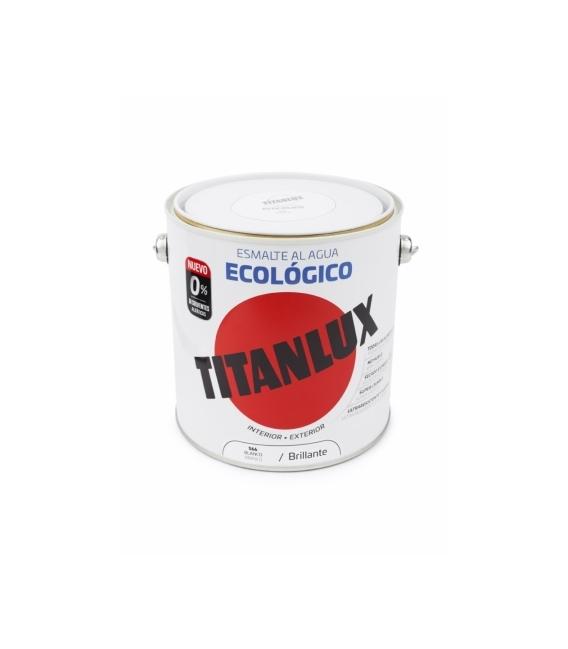 Esmalte agua ecológico brillante blanco 2.5 L. TITANLUX