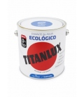 Esmalte agua Ecológico satinado Azul luminoso 2.5 LT. TITANLUX