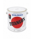 Esmalte agua ecológico satinado Blanco 2.5 LT. TITANLUX