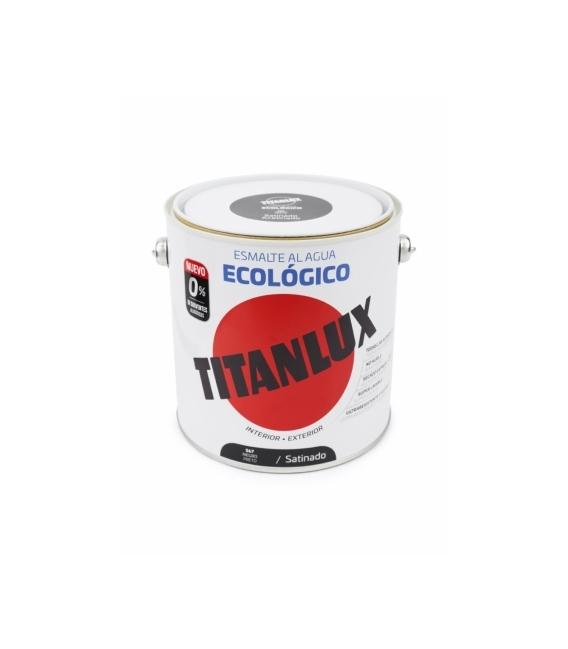 Esmalte agua ecológico satinado Negro 2.5 LT. TITANLUX