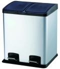 Cubo de basura reciclar con pedal 24LT 40X39X47cm. VIVAHOGAR