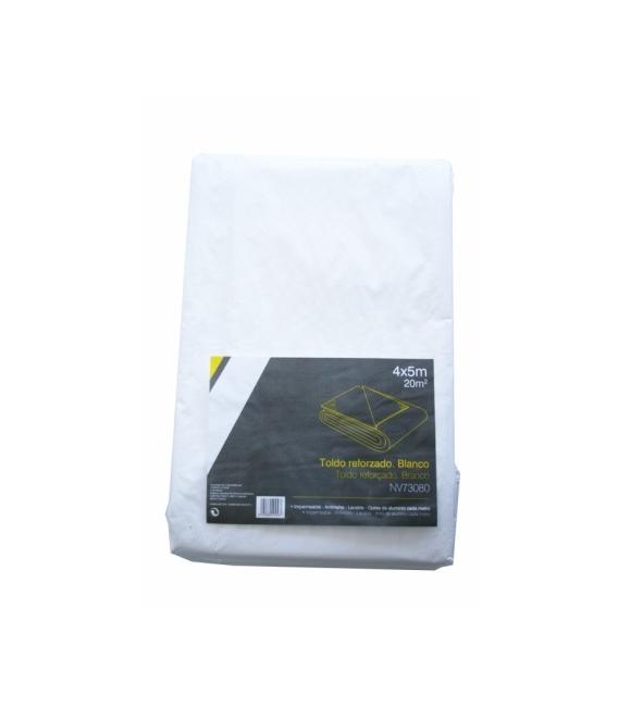 Toldo multiuso reforzado 06X10mt 115G/M2 Polietileno Blanco. NIVEL