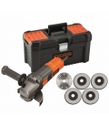 Amoladora para bricolaje 125mm 900w BLACK&DECKER