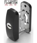 Escudo carpintería metálica SCUTUM negro LINCE
