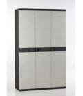 Armario Orden 105x44x176cm 4B Negro/Beige. PLASTIKEN