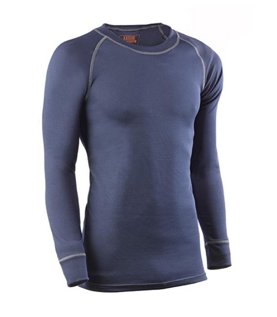 Camiseta pantalón térmico 730DN UNDERWEAR L 100% poliéster 730 azul marino. JUBA