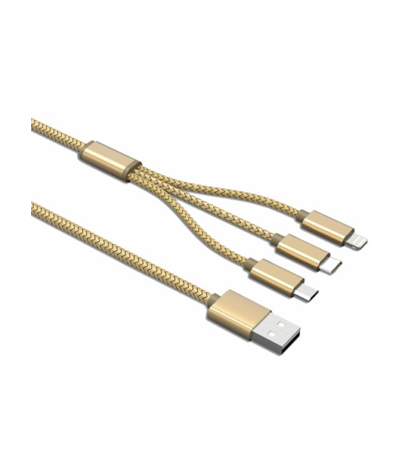 CABLE USB 3EN1 1 MICRO USB 1 IPHONE 1 TY