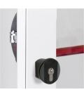 Pomo puerta ejes 43mm negro antipánico. CISA