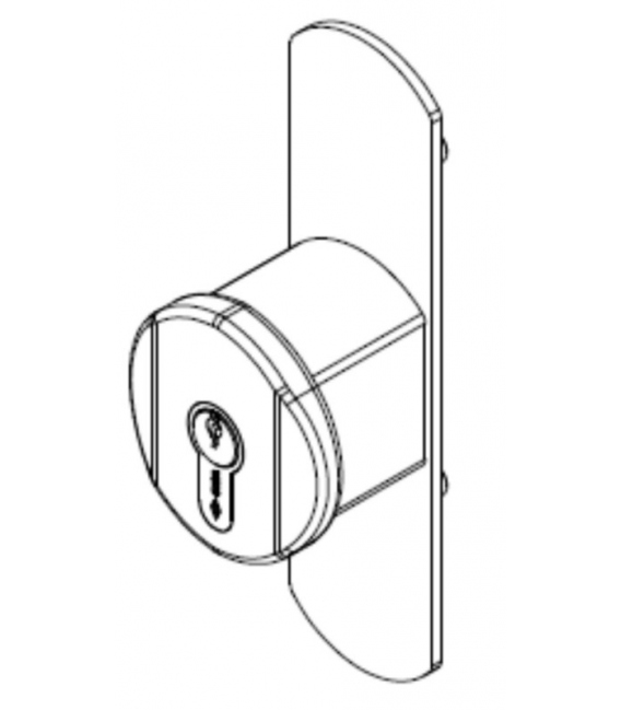 Pomo Puerta Ejes 90mm 1.07078.65.0 Negro Antipánico Externo Fijo. CISA