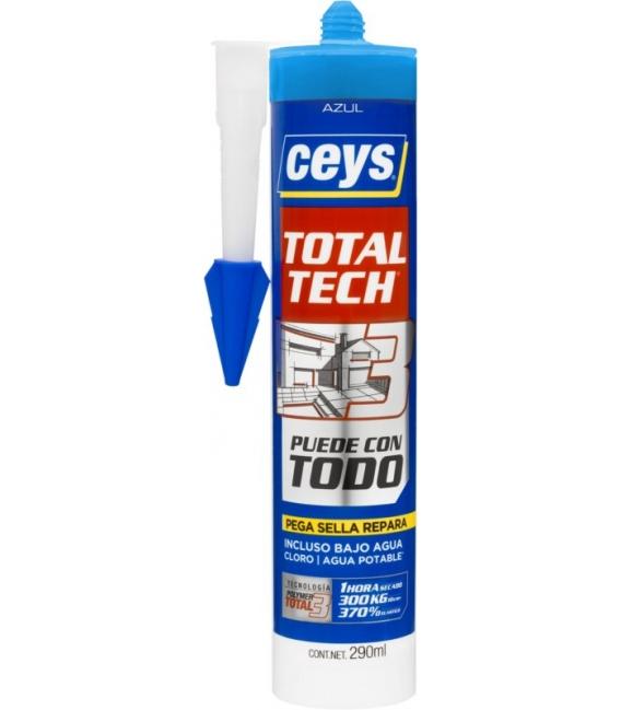 Adhesivo sellador 290ml azul CEYS Total Tech
