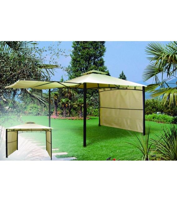 Cenador jardín 3X3 MT metal beige. NATUUR