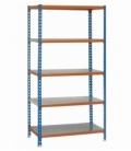 Estantería de carga ligera KIT SIMONCLICK PLUS 5/300 AZUL/NARANJA/GALVA
