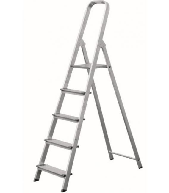 Escalera Domestica Tijera 0,62Mt 3 peldaños ancho aluminio. VIVAHOGAR