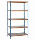 Estantería de carga ligera KIT SIMONCLICK PLUS 5/500 AZUL/NARANJA/GALVA