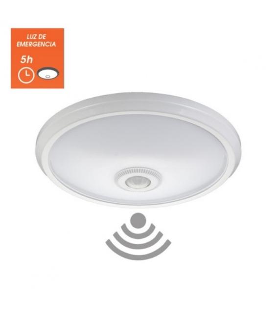 Plafón circular con sensor 16W