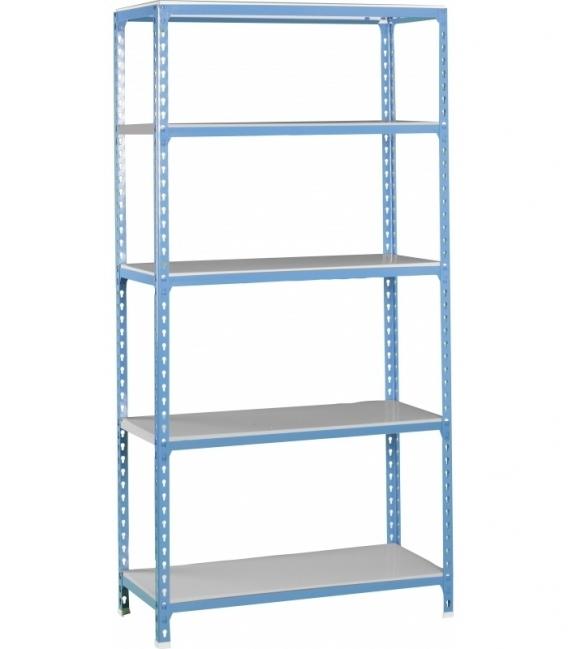 Estantería de carga ligera KIT SIMONCLICK SUPERPLUS 5/500 Azul/Galvanizada. SIMONRACK