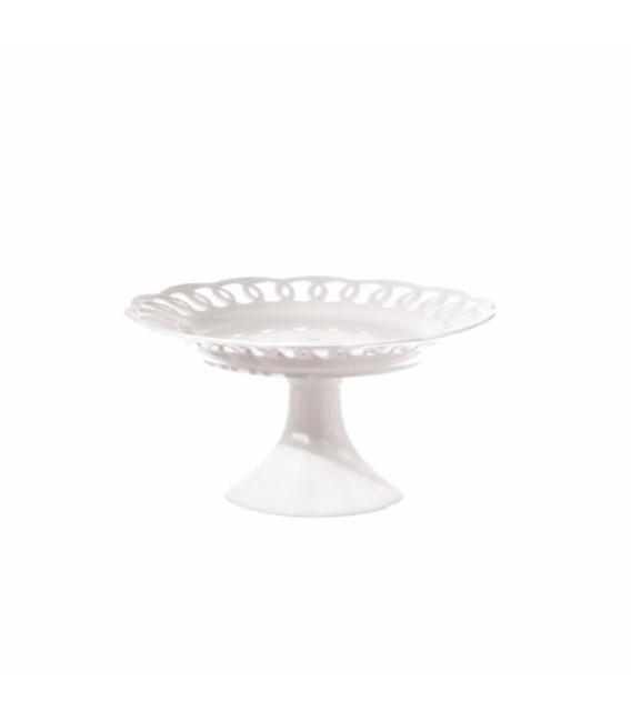 Bandeja mesa con pie 30cm  porcelana. LPB