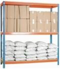 Estantería de media carga KIT SIMONFORTE 2404-3 AZUL/NARANJA