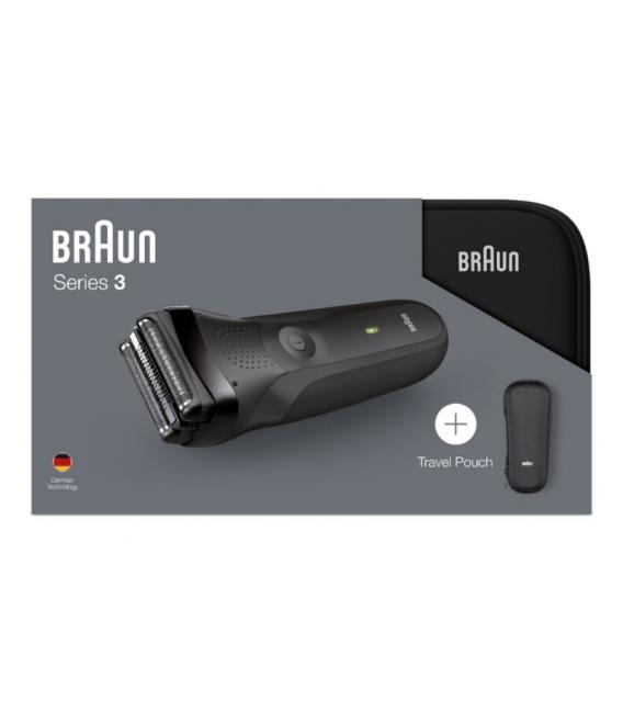 Afeitadora sin cable BRAUN 300S BLACK SERIE 3 + FUNDA