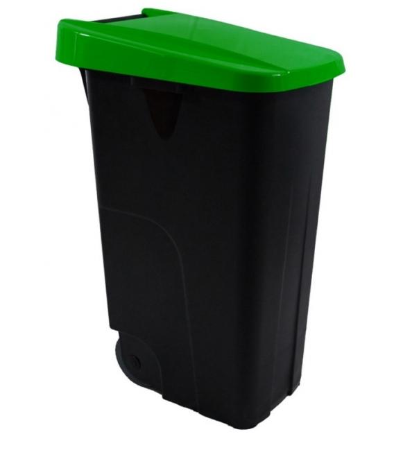 Contenedor basura con ruedas verde 85LT. DENOX