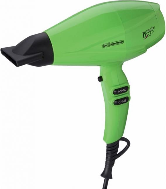 Secador de pelo iónico 2200W verde. JATA