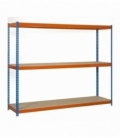 Estantería para picking Kit Simonforte 1806-3 CHIPBOARD Azul/Madera/Naranja. SIMONRACK