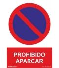 CARTEL 210X300MM PROHIBIDO APARCAR