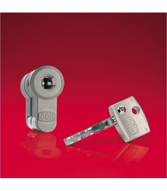 Cilindro de seguridad 30x30mm Diamante Acero Niquel. DOM